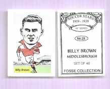Middlesbrough Billy Brown 28 (FC)